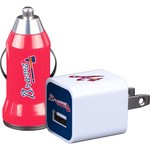 Mizco Atlanta Braves Home and Away USB Chargers 2-Pack