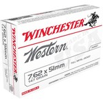 Winchester Western  7.62 x 51 mm 147-Grain Centerfile Rifle  Ammunition