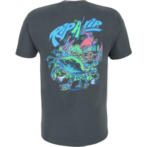 Rip a lip adults 39 blue crab t shirt academy for Rip a lip fish wear