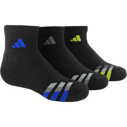 adidas™ Kids' Cushion Quarter Socks 3-Pair