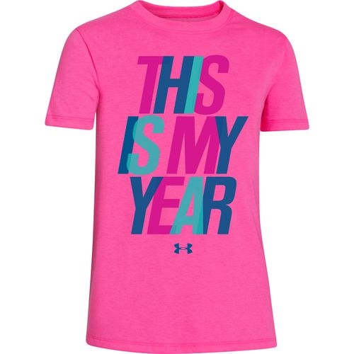 Under armour girls 39 new year crew t shirt academy for Academy under armour shirts