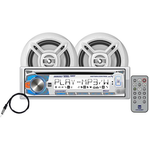 Dual AM425BT 240W Marine CD Receiver with Bluetooth® and Speakers