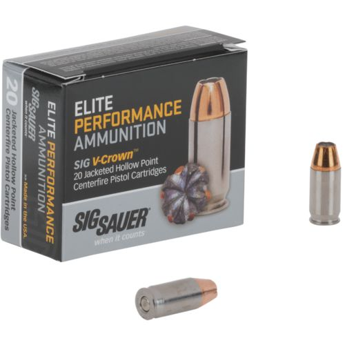 Display product reviews for SIG SAUER Elite V-Crown .380 ACP 90-Grain Centerfire Ammunition