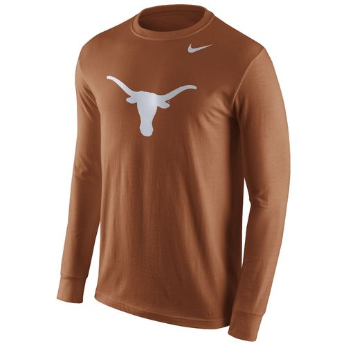 Nike™ Men's University of Texas Long Sleeve Logo T-shirt