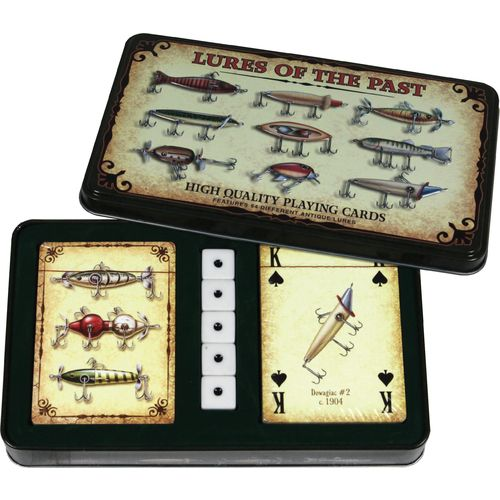 River's Edge Products Fish Lure Cards and Dice Tin