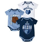 "adidas™ Infants' Memphis Grizzlies ""3 Point Spread"" Bodysuit Set"