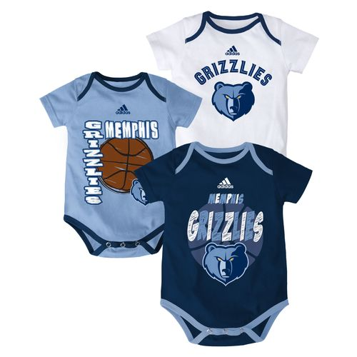 adidas™ Infants' Memphis Grizzlies '3 Point Spread' Bodysuit Set