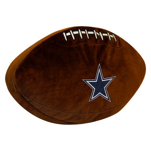 The Northwest Company Dallas Cowboys Football Shaped Plush Pillow