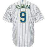 Majestic Men's Milwaukee Brewers Jean Segura #9 Cool Base® Jersey