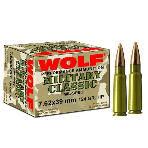 WOLF Performance Ammunition Military Classic 7.62 x 39mm 124-Grain Soft Point Centerfire Rifle Ammun - view number 1