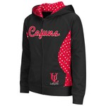 Colosseum Athletics Girls' University of Louisiana at Lafayette Polka Poly Fleece Hoodie