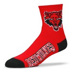 For Bare Feet Men's Arkansas State University Logo Quarter Socks