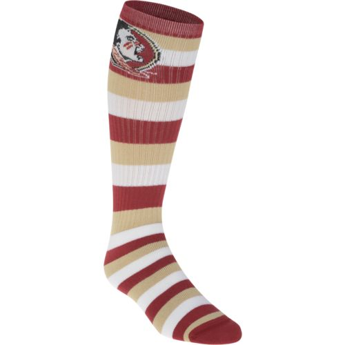 For Bare Feet Adults' Florida State University Team Color Pro Stripe Tube Socks