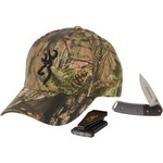 Browning Men's Mossy Oak Break-Up® Country Cap, Knife and Light Combo