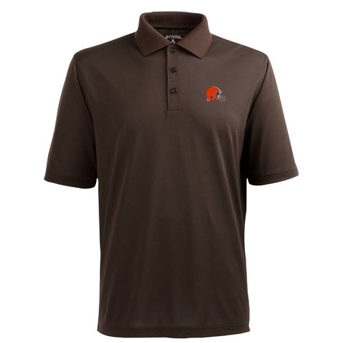 Antigua Men's Cleveland Browns Piqué Xtra-Lite Polo Shirt