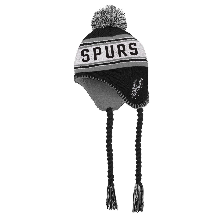 adidas™ Boys' San Antonio Spurs Tassel Knit Cap