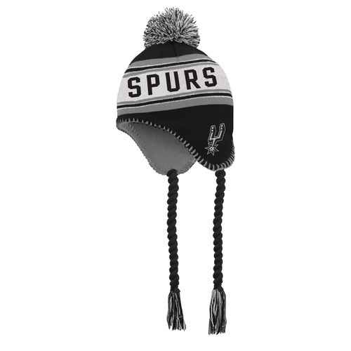 adidas™ Boys' San Antonio Spurs Tassel Knit Cap with Pom