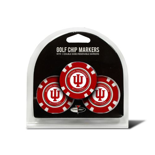 Team Golf Indiana University Poker Chip and Golf Ball Marker Set - view number 1