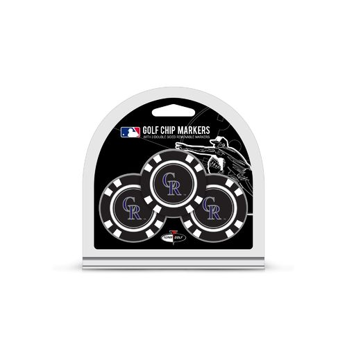 Team Golf Colorado Rockies Poker Chip and Golf Ball Marker Set
