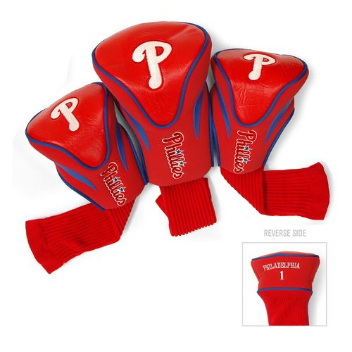 Team Golf Philadelphia Phillies Contour Sock Head Covers 3-Pack
