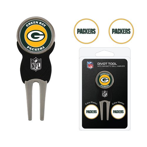 Team Golf Green Bay Packers Divot Tool and Ball Marker Set - view number 1