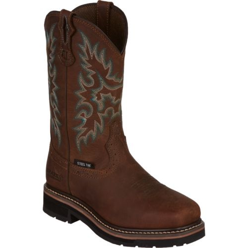 Brazos Women's Bandero Square Steel Toe Wellington Work Boots - view number 2