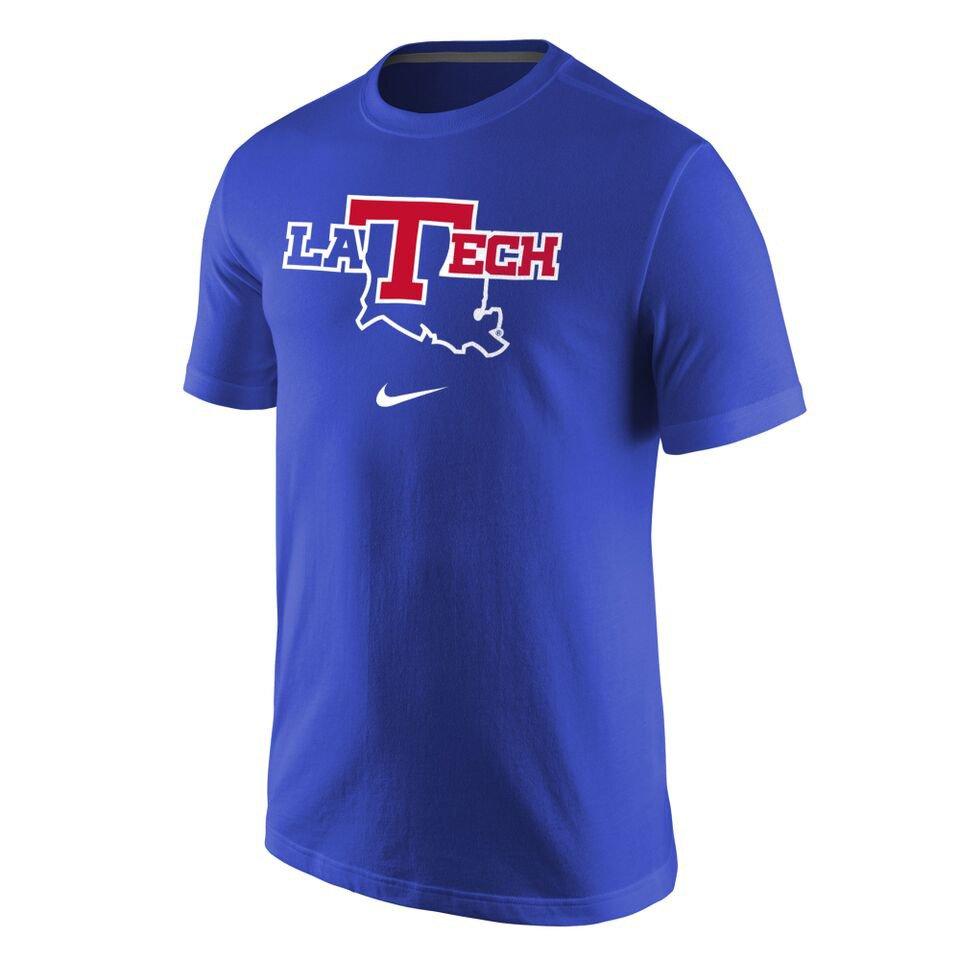 Nike Men's Louisiana Tech University Cotton Short Sleeve