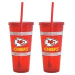 Boelter Brands Kansas City Chiefs 22 oz. Bling Straw Tumblers 2-Pack - view number 1