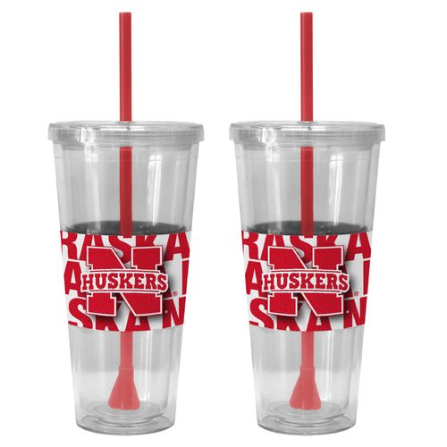 Boelter Brands University of Nebraska Bold Neo Sleeve 22 oz. Straw Tumblers 2-Pack