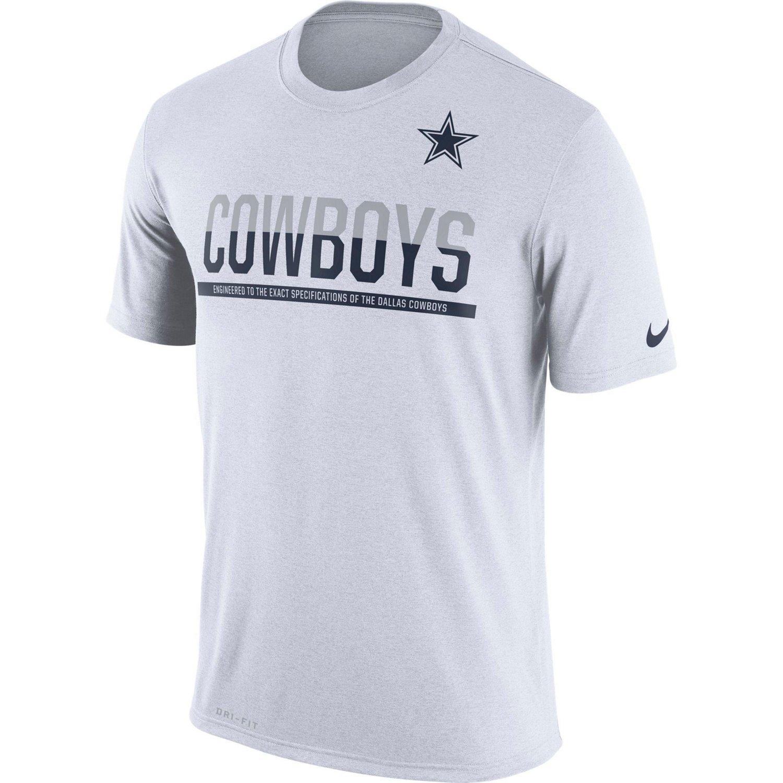 Nike men 39 s dallas cowboys team practice t shirt academy for Dallas cowboys fishing shirt
