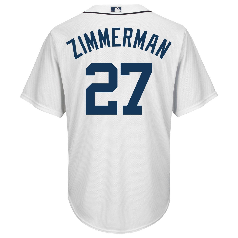 Majestic Men's Detroit Tigers Jordan Zimmermann #27 Cool Base Replica Jersey free shipping