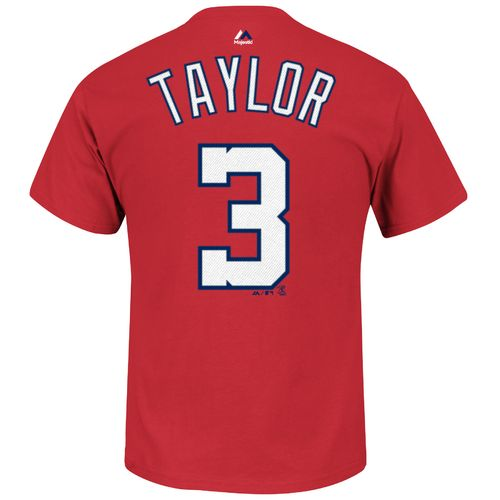 Majestic Men's Washington Nationals Michael Taylor #3 Logo T-shirt