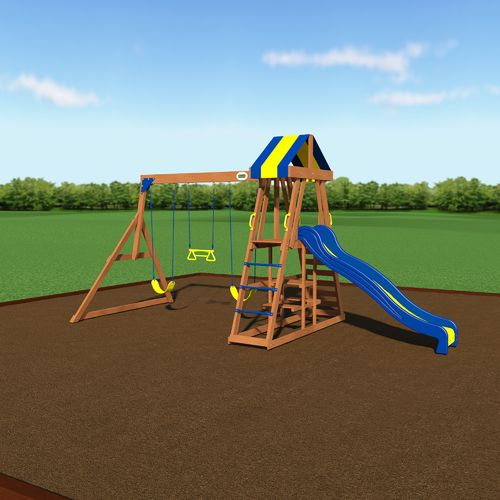 Backyard Discovery™ Yukon III Wooden Swing Set - view number 2