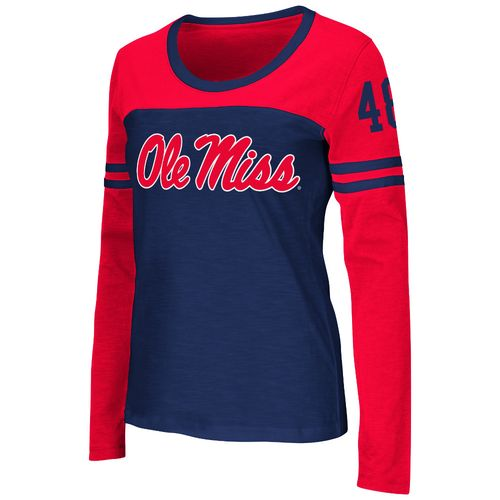 Colosseum Athletics™ Women's University of Mississippi Hornet Football Long Sleeve T-shirt