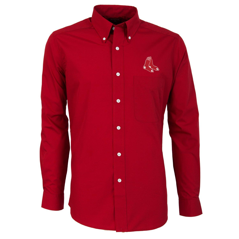 Antigua Men's Boston Red Sox Dynasty Long Sleeve Button Down Shirt