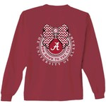 New World Graphics Women's University of Alabama Ribbon Bow Long Sleeve T-shirt