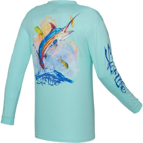 Salt Life Men's Sunset Marlin Long Sleeve T-shirt