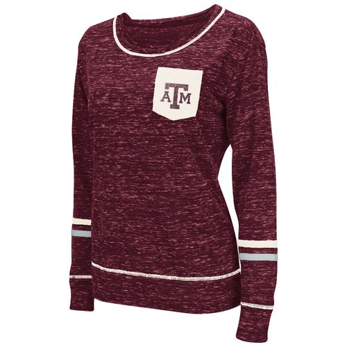 Display product reviews for Colosseum Athletics™ Women's Texas A&M University Homies Raw Edge Pocket T-shirt