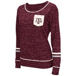 Colosseum Athletics™ Women's Texas A&M University Homies Raw Edge Pocket T-shirt