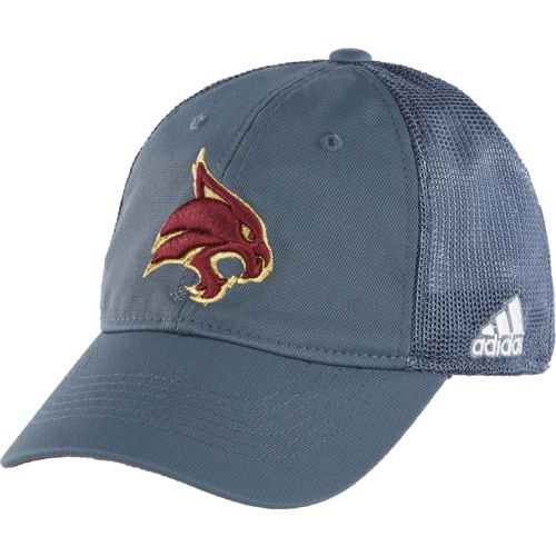 adidas™ Men's Texas State University Coach Flex Mesh Back Slope Cap