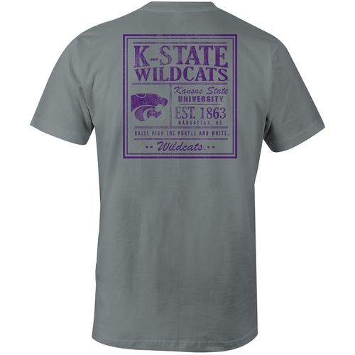 Image One Men's Kansas State University Comfort Color Vintage Poster Short Sleeve T-shirt