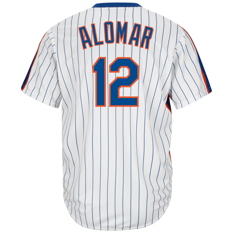 Majestic Men's New York Mets Roberto Alomar #12 Cool Base Cooperstown Jersey - view number 2