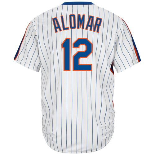 Majestic Men's New York Mets Roberto Alomar #12 Cool Base Cooperstown Jersey