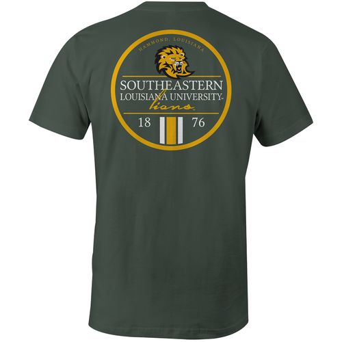 Image One Men's Southeastern Louisiana University Simple Circle Lines Comfort Color T-shirt