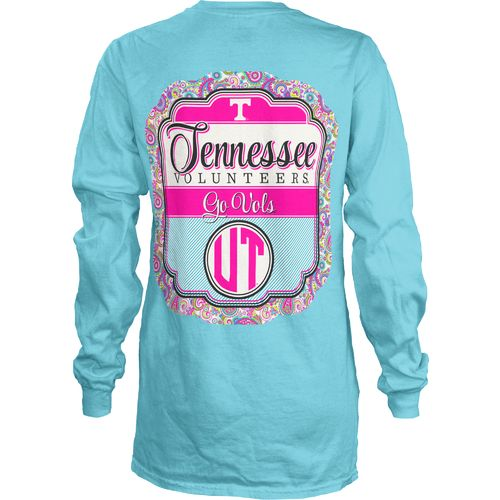 Three Squared Juniors' University of Tennessee Paisley Frame Long Sleeve Shirt