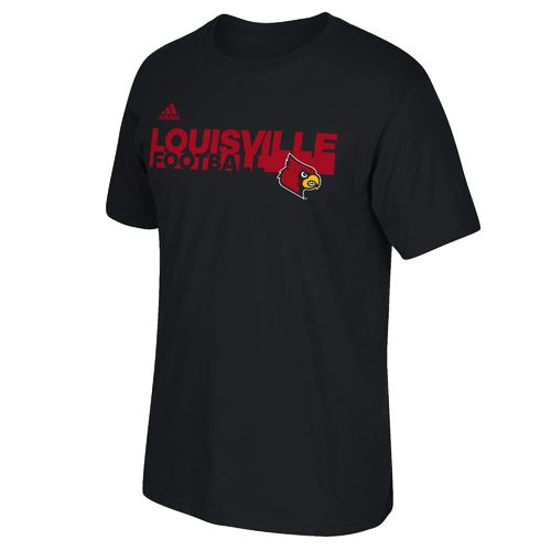 adidas™ Men's University of Louisville Sideline Grind Football T-shirt
