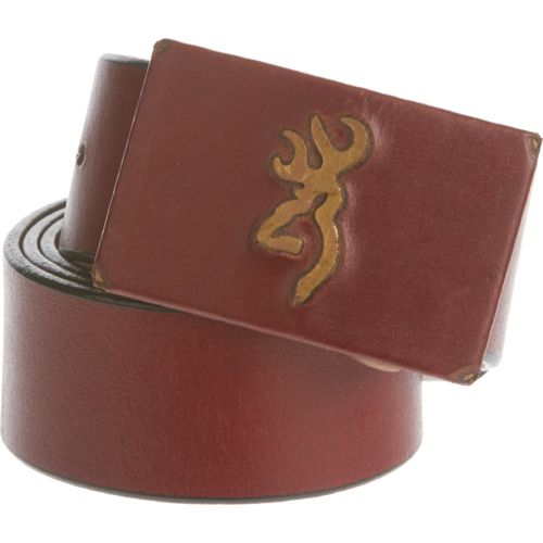 Browning™ Men's Brass Buck Leather Belt