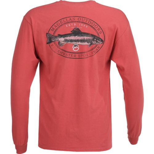 Magellan Outdoors Men's Freshwater Sportsman Long Sleeve Pocket T-shirt