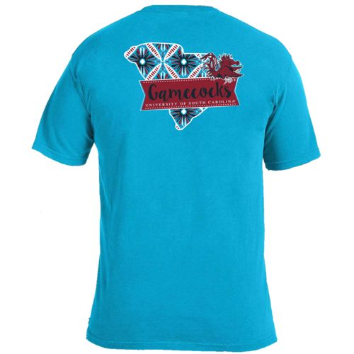 Image One Women's University of South Carolina Pattern Scroll State T-shirt