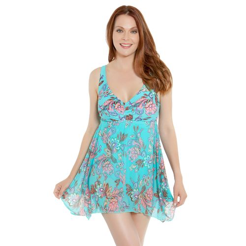 Sweet Escape Women's Paisley Bloom Swim Dress